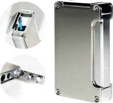 Adorini Jet-flame lighter - silver