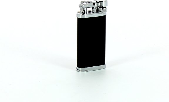 IM Corona pipe lighter Old Boy chrom/black