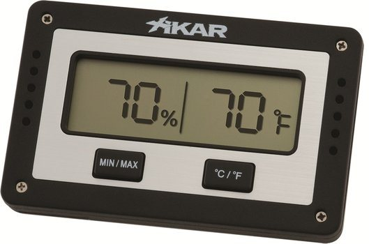 Xikar Ορθογώνιο Ψηφιακό Υγρόμετρο Υγραντήρα