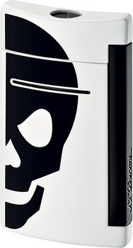 S.T. Dupont miniJet 10056 - white with black skull
