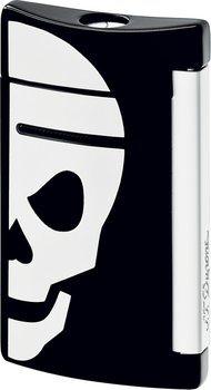 S.T. Dupont miniJet 10055 - black with white skull