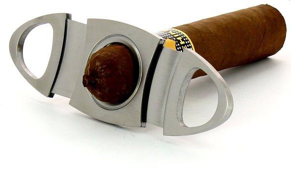 adorini oval sigarkutter i rustfritt stål