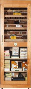 adorini Roma Humidor Cabinet Cedar with Electronic Humidifier
