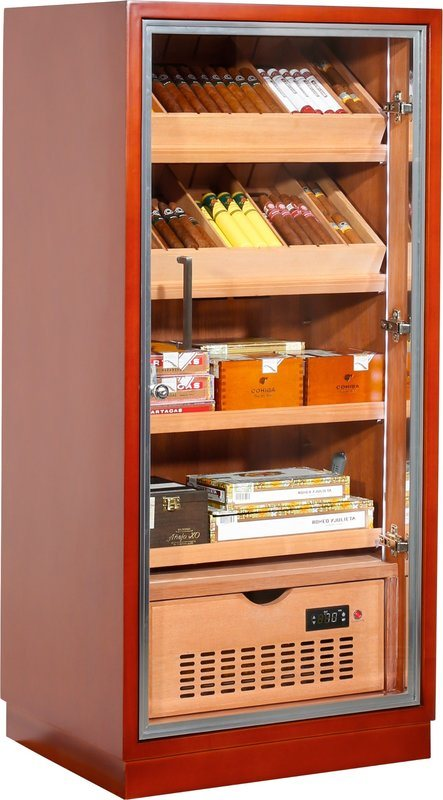 Ravenna 120 Deluxe Humidor Cabinet Brown