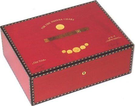 Elie Bleu Rød Medalje 75-Cigar Humidor