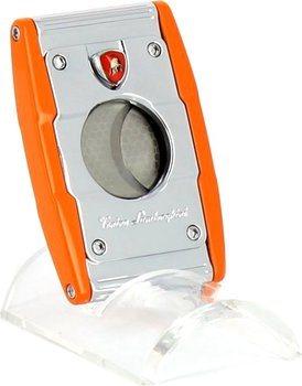 Ořezávač doutníků s dvěma gilotinovými noži Lamborghini Precisione oranžový