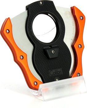Crno-narančasti rezač za cigare Colibri Monza Cut