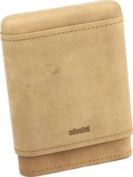 adorini Real Leather Case for 3-5 Cigars Brown
