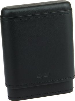 adorini Real Leather Case for 3-5 Cigars Black