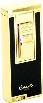 Zlatno-crni upaljač za cigare s jet plamenom Caseti