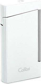 Metalik bijeli upaljač za cigare Colibri Voyager