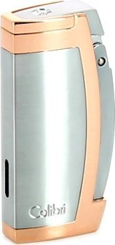 Colibri Enterprise 1 Cigar Lighter Satin Krom/Rose Guldtone