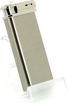 Sarome pipe lighter including pipe tamper chrome / satin