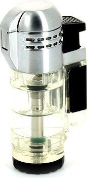 Prozirni upaljač za cigare s jet plamenom Xikar Tech