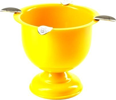 Stinky Cigar Tall 4-Stirrup Ashtray Safety Yellow