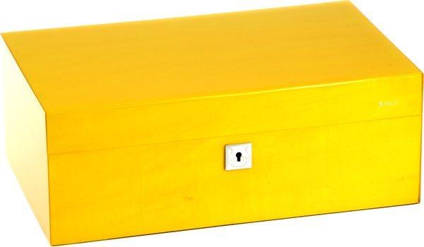 Humidor značky Siglo velikost M 75 žlutý