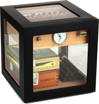 adorini Cube Deluxe Humidori Musta