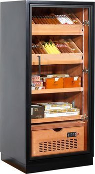 Ravenna 120 Deluxe Humidor Cabinet Black