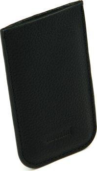 Kožené černé pouzdro Adorini - ořezávač ve tvaru karty 70
