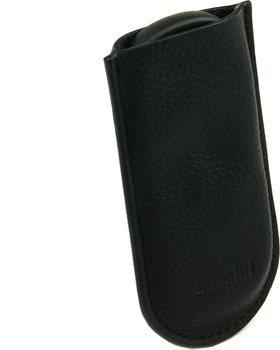 Estojo em couro preto Adorini - cortador de lâmina dupla