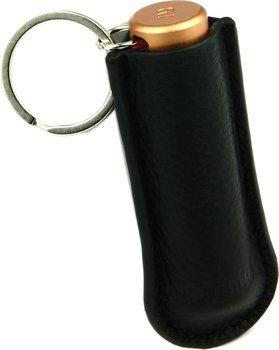 Kožené černé pouzdro značky Adorini - dvojitý ořezávač