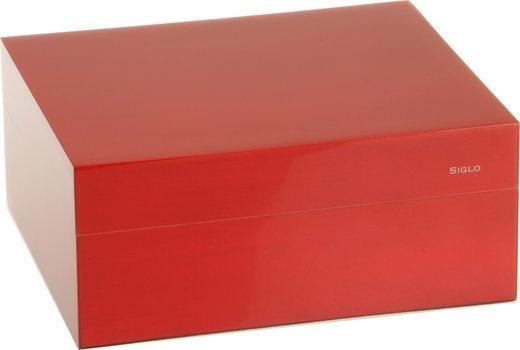 Humidor značky Siglo velikost S 50 červený