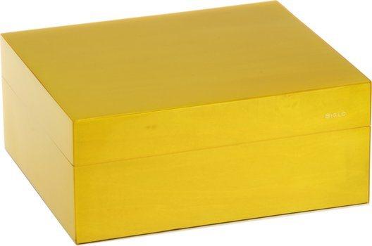Humidor značky Siglo velikost S 50 žlutý