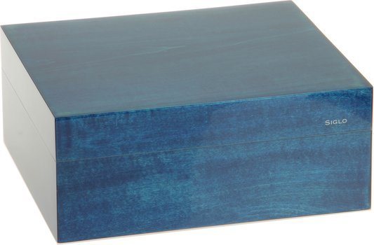 Humidor značky Siglo velikost S 50 modrý