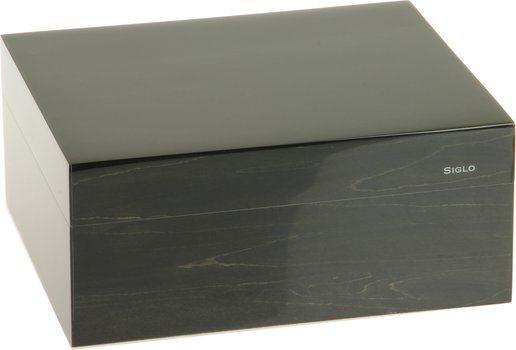 Humidor značky Siglo velikost S 50 tmavě šedý