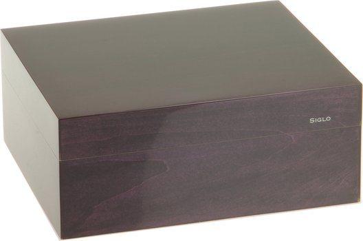 Humidor značky Siglo velikost S 50 fialový