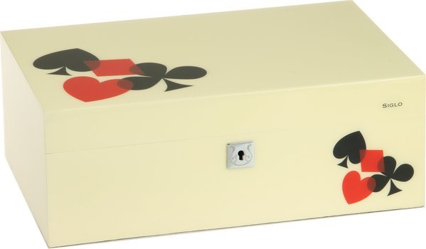 Humidor značky Siglo velikost M 75 kartový vzor