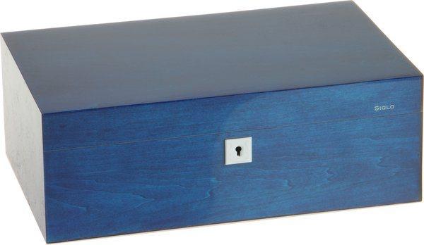 Humidor Siglo velikost M 75 modrý