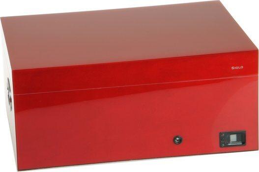 Umidor Siglo - impressão digital-  Vermelho