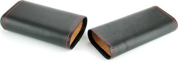 Кожен калъф Siglo черен с червен шев