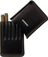 Lecerf Cigarillo Case Leather black for 6 Cigarillo