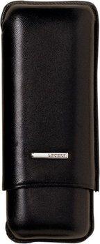 Lecerf Cigar Case Leather black for 2 Robusto