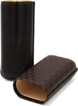 Davidoff Cigaretui R-2 Lær brunt garvet
