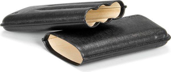 Kožené pouzdro na doutníky Colibri Corona černá na černé