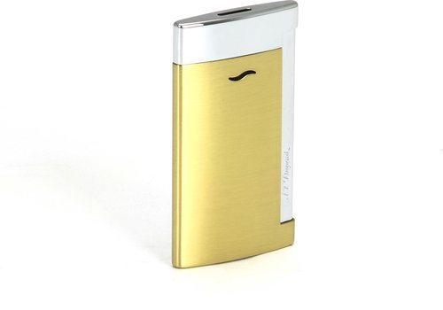 Luxusní zapalovač S.T. Dupont Slim 7 žluté zlato
