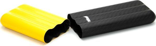 Karbonové pouzdro značky Adorini na 3 doutníky typu Corona žlutá/černá
