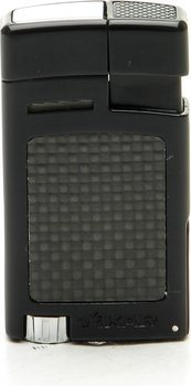 Xikar Forte Lighter Black Carbon Fiber
