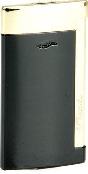 S.T. Dupont slank 7 Lighter sort/guld