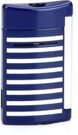 ST Dupont Minijet lighter 10105 - Navyblå/hvite striper