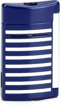 Isqueiro S.T. Dupont MiniJet 10105 L - Azul marinho/Listras brancas