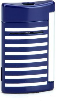 S.T. Dupont MiniJet Lighter 10105 Navy Blue / White Stripes