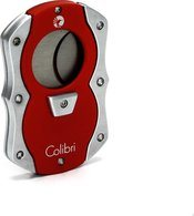 Colibri 'Cut' Cigar Guillotine Red/Silver