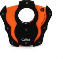 Colibri 'Cut' Cigar Cutter Black/Orange