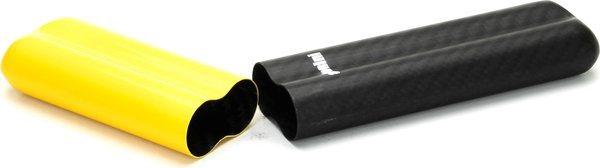 Karbonové pouzdro značky Adorini na 2 doutníky typu Corona žlutá/černá
