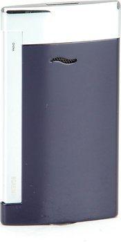 S.T. Dupont slank 7 Lighter blå/krom