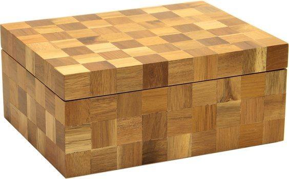 木质方格雪茄盒